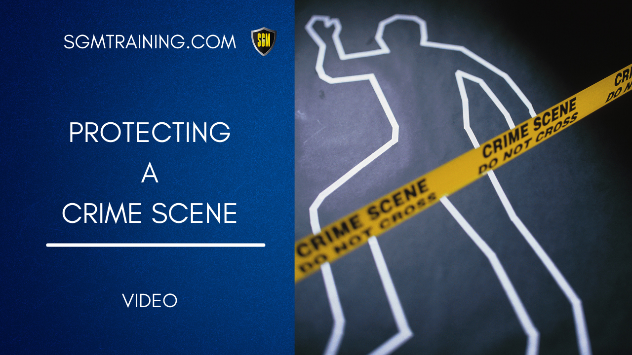 Protecting a Crime Scene DVD