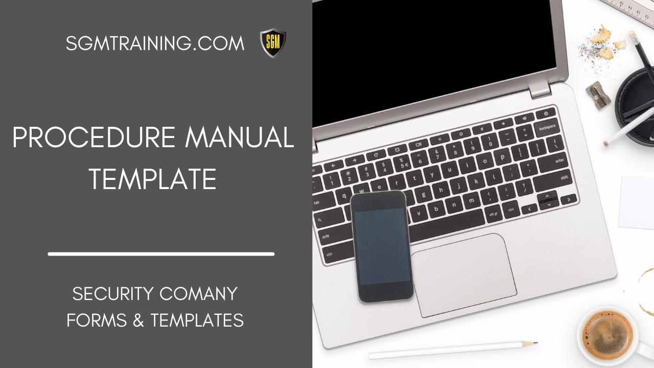 Procedure Manual Template