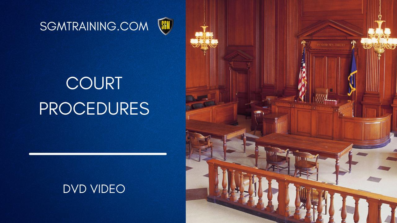Court Procedures DVD