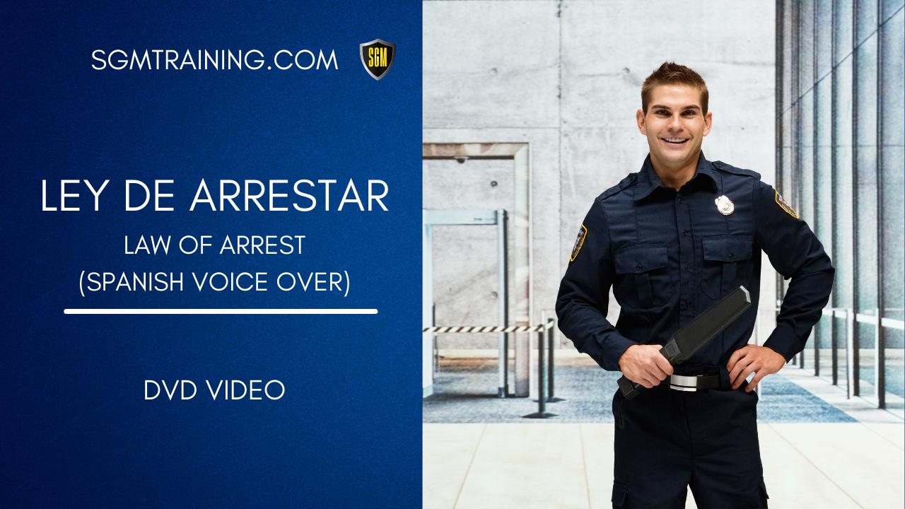 Spanish - Law of Arrest DVD